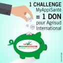 Mise en Place d'un Challenge MyAppiSanté avec Don à AgriSud 2500€ (850€ après reduction fiscale)